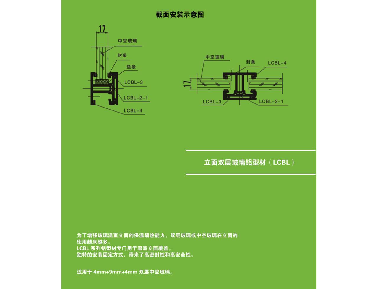 立面双层玻璃铝型材(LCBL)(北京华农) 照片